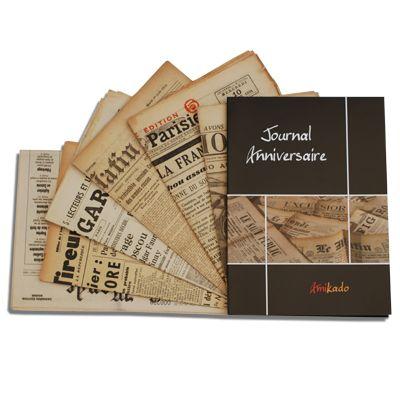 id e cadeau anniversaire le journal du jour de naissance un cadeau id al id es cadeaux. Black Bedroom Furniture Sets. Home Design Ideas